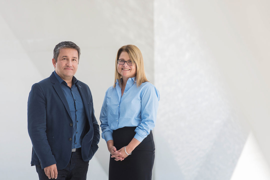 Alfred Hermida and Mary Lynn Young (Photo: Paul Joseph)