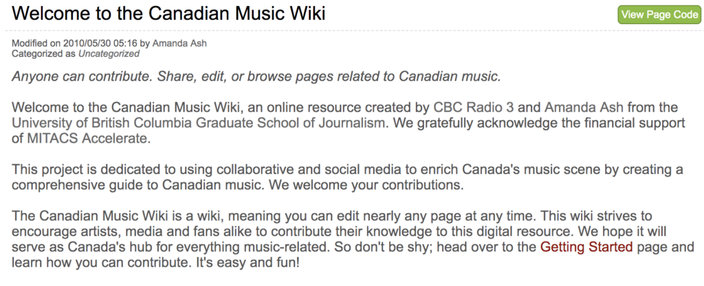 Canadian Music Wiki